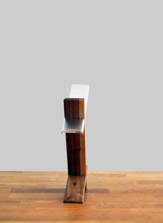 led bureaulamp hout-aluminium - achterkant
