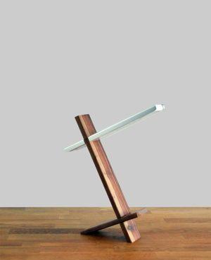 led bureaulamp hout/aluminium