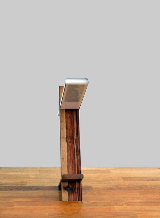 led bureaulamp hout-aluminium - voorkant