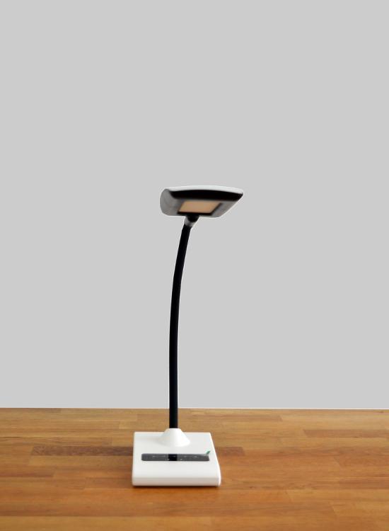 led bureaulamp retro dimbaar & flexibele standaard - voorkant omhoog