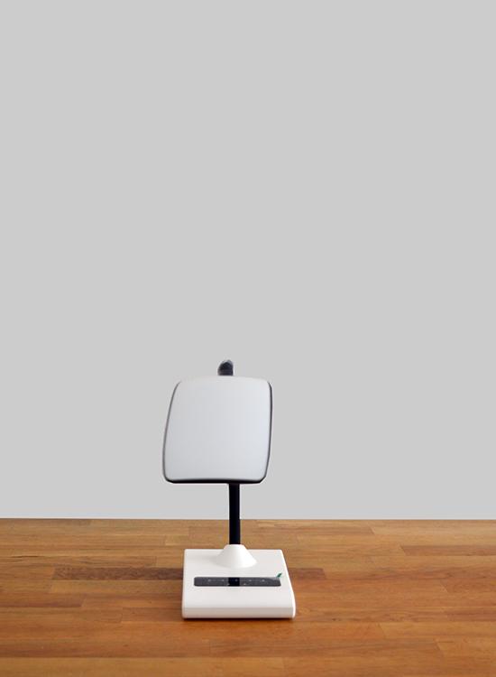 led bureaulamp retro dimbaar & flexibele standaard - voorkant omlaag