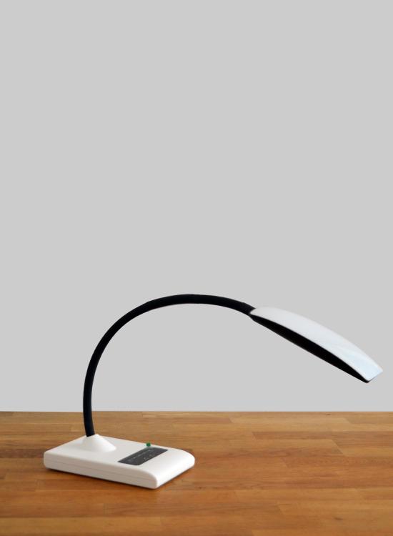 led bureaulamp retro dimbaar & flexibele standaard - zijkant omlaag